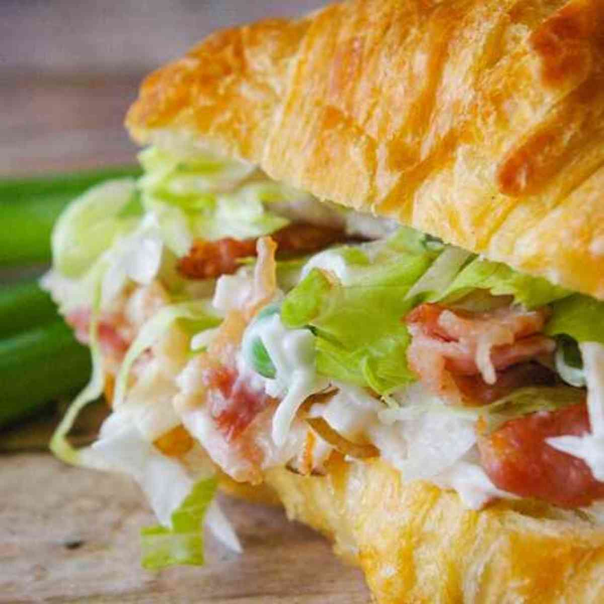 Turkey salad on a croissant!