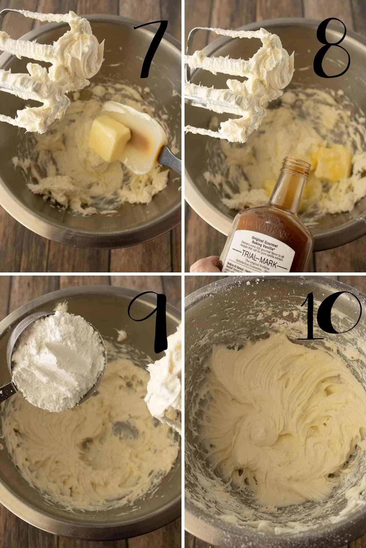 Beat the frosting ingredients together well.