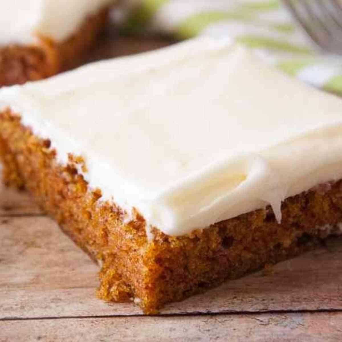 Piece of carrot cake.