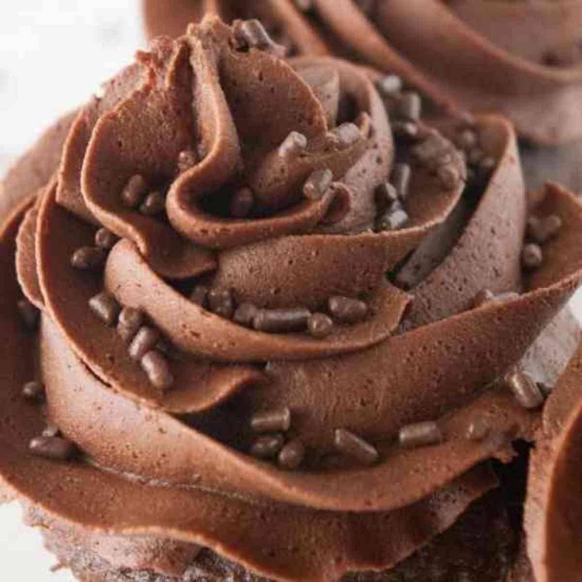 Cupcake Frosted with chocolate buttercream