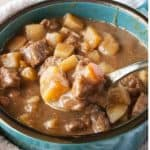 Big bowl of beef stew