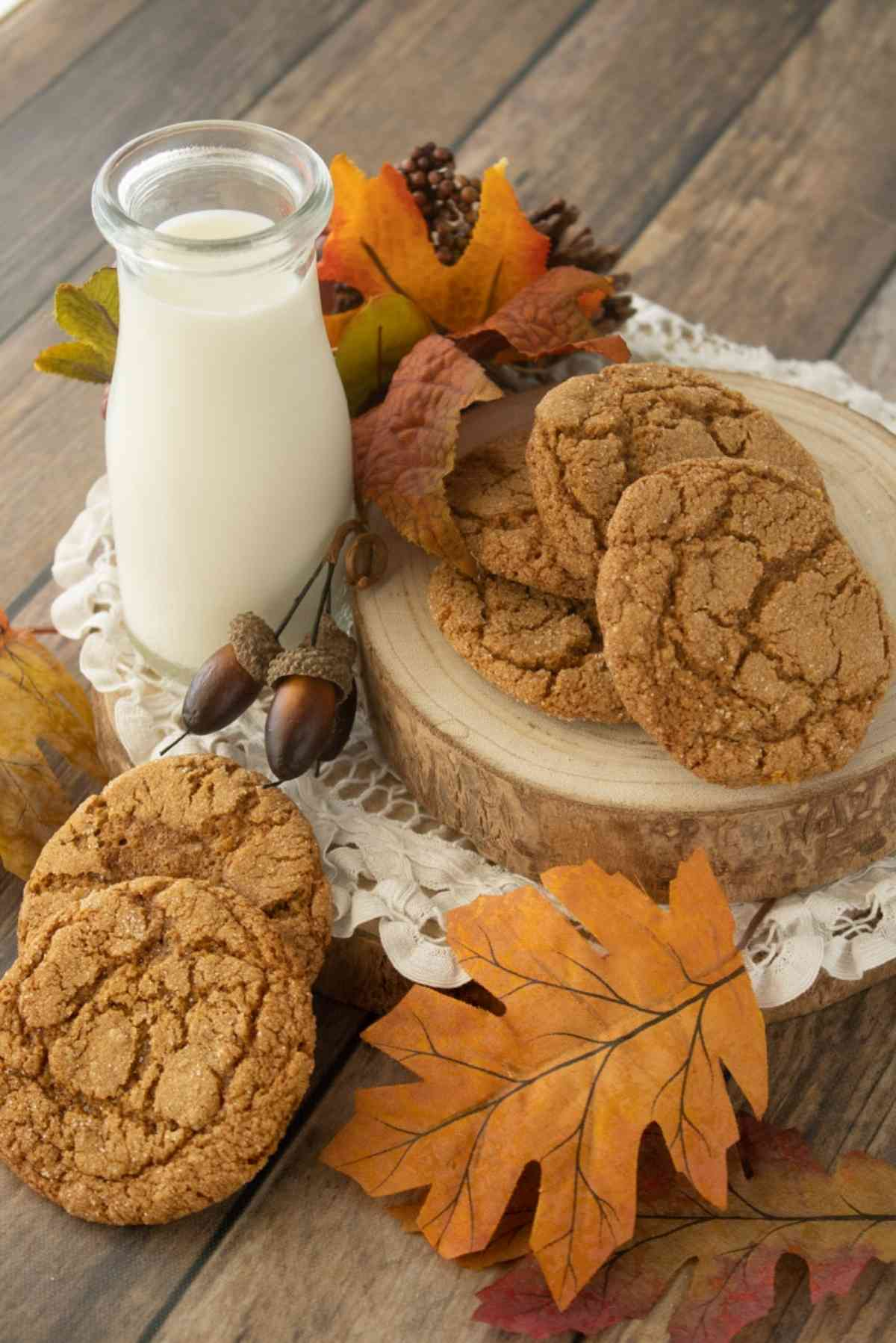 Eat these molasses cookies with a tall glass of milk!