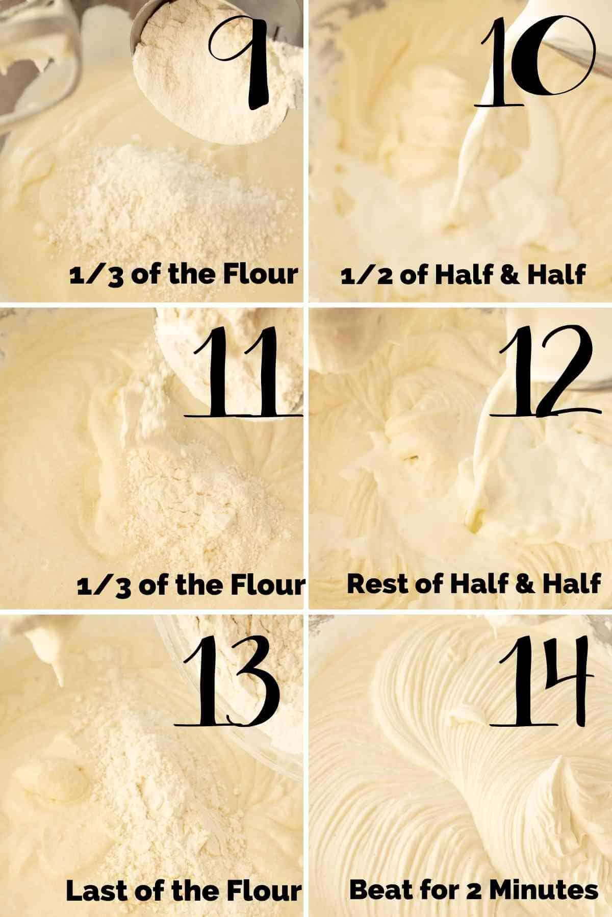 Additions of flour and half & half.